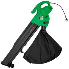 Soprador E Sugador de Folhas Elétrico Gss-3000 3000w 110v Verde E Preto - Motomil