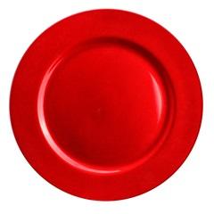 Sousplat em Acrílico 32,8cm Vermelho - Casanova