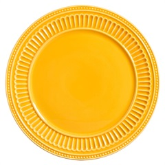 Sousplat em Cerâmica Poppy 34cm Amarelo - Scalla