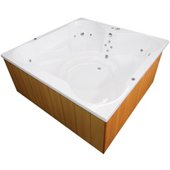 Spa com Hidromassagem Flower Spacril 180cm Branco - Ouro Fino