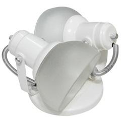 Spot Branco com Vidro Fosco para 2 Lâmpadas Ref. 450/2 - Franzmar