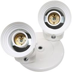 Spot com Tela Branco para 2 Lampadas