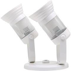 Spot com Tela para 2 Lâmpadas Branco - Franzmar