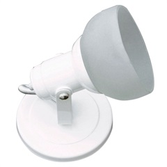 Spot com Vidro para 1 Lâmpada Branco - Franzmar