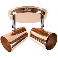 Spot de Arco para 2 Lâmpadas New Short 15x13,5cm Cobre - Bronzearte