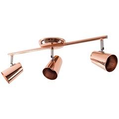 Spot de Arco para 3 Lâmpadas New Short 48x15cm Cobre - Bronzearte