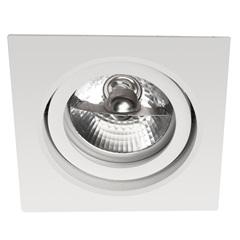 Spot de Embutir Quadrado Basculante 11x11cm Branco - Bronzearte