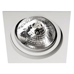 Spot de Embutir Quadrado Basculante 14,5x14,5cm Branco - Bronzearte
