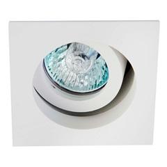 Spot de Embutir Quadrado Basculante Microgranulado 6x6cm Branco - Bronzearte