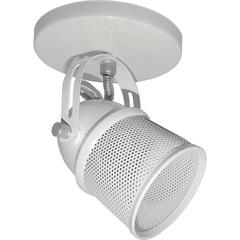 Spot de Sobrepor em Alumínio com Tela para 1 Lâmpada 60w 110v Branco E Cromado - Spot Line