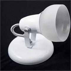 Spot de Sobrepor em Alumínio com Vidro para 1 Lâmpada Branco - JM Iluminação