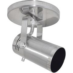 Spot de Sobrepor em Alumínio para 1 Lâmpada 60w 110v Cinza Lixado - Spot Line