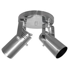 Spot de Sobrepor em Alumínio para 2 Lâmpadas Lixado - Spot Line