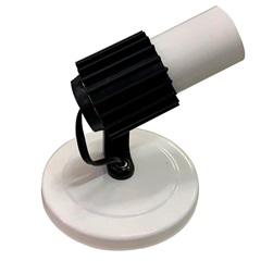 Spot de Sobrepor para 1 Lâmpada com Aleta Branco E Preto - Franzin
