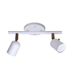 Spot Drean Base Trilho para 2 Lâmpadas Gu10 Branco com Cobre - Spot Line