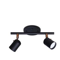 Spot Drean Base Trilho para 2 Lâmpadas Gu10 Preto com Cobre - Spot Line
