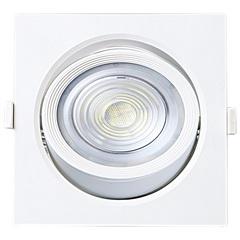 Spot Led de Embutir Quadrado Alltop 10w Autovolt 3000k Luz Amarela - Taschibra