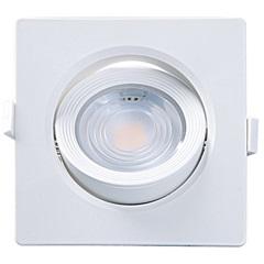Spot Led de Embutir Quadrado Alltop 7w Autovolt 6500k Luz Branca - Taschibra