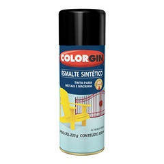 Spray Esmalte Sintético Preto - Colorgin