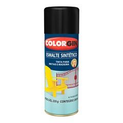 Spray Esmalte Sintético Preto Fosco - Colorgin