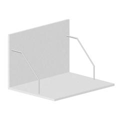 Suporte de Microondas para Cozinha em Mdf Veneza 40x60cm Branco - Bonatto