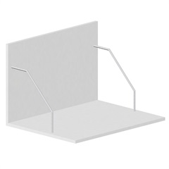 Suporte de Microondas para Cozinha em Mdf Veneza 40x70cm Branco - Bonatto