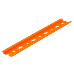 Suporte em Plástico Antichama para 12 Disjuntores Din Laranja - Kit-Flex