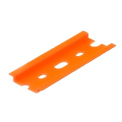 Suporte em Plástico Antichama para 5 Disjuntores Din Laranja - Kit-Flex