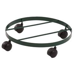 Suporte Móvel para Vaso em Ferro Single com 4 Rodinhas 32cm Marrom - Alambre