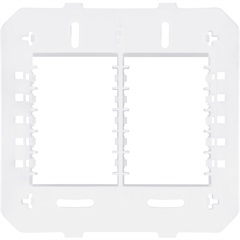 Suporte para 6 Módulos Horizontais 4x4 Habitat Branco - Fame