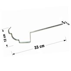 Suporte Reto para Calha Moldura Galvanizado 28cm - Calha Forte
