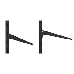 Suporte Simples para Trilho em Aço Decore 35cm Preto - Multivisão