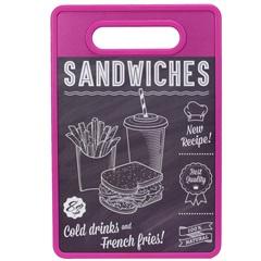 Tábua de Corte Sandwiches 20x30cm Roxa - Casanova