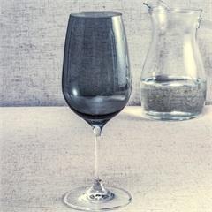 Taça de Água em Cristal Prestige 570ml Fumê - Casa Etna