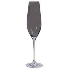 Taça de Champagne em Cristal Prestige 210ml Fumê