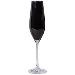 Taça de Champagne em Cristal Prestige 210ml Preta - Casa Etna