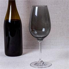 Taça de Vinho em Cristal Prestige 450ml Fumê - Casa Etna