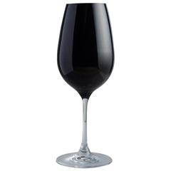 Taça de Vinho em Cristal Prestige 450ml Preta - Casa Etna