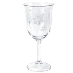 Taça em Acrílico Flocos de Neve 410ml Transparente - Casanova