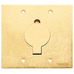 Tampa Unha Simples para Caixa de Piso 4x4'' Dourada - Tramontina