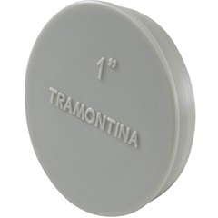 """Tampão para Caixa Múltipla 1"""" Cinza - Tramontina"""