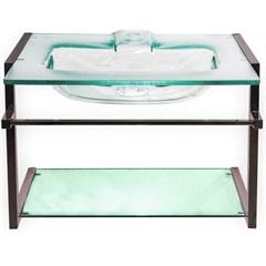 Tampo em Vidro para Banheiro Havana 80cm Transparente - Fermar Scalline