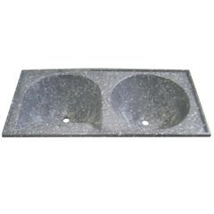 Tanque de Alvenaria Granito Sintético Conjunto Cinza 120cm - Corso