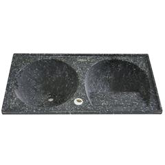 Tanque de Alvenaria Granito Sintético Conjunto Ônix 100x50cm - Corso