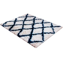 Tapete de Banho em Poliéster Levitare Descanso 70x50cm Azul - Casa Etna