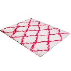 Tapete de Banho em Poliéster Levitare Descanso 70x50cm Rosa - Casa Etna