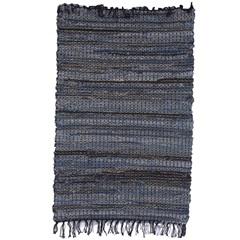 Tapete Dennim Laaj Algodão 90x60cm Azul - Casa Etna
