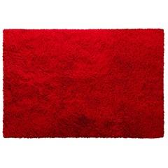 Tapete em Poliéster Bella 100x140cm Vermelho - Jolitex