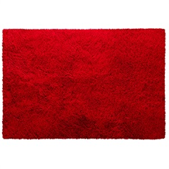 Tapete em Poliéster Bella 200x250cm Vermelho - Jolitex