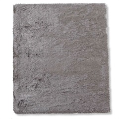 Tapete em Poliéster New Agra 150x100cm Prata - Casa Etna